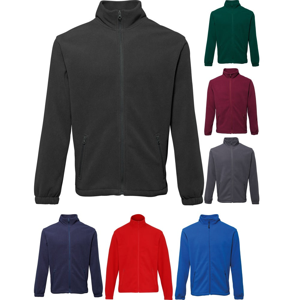 Mens 2786 Full Zip Warm Comfortable Colour Fleece Jacket Top