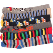 6 x Boys Kids Children Wellington Welly Motif Design Thermal Warm Long Socks