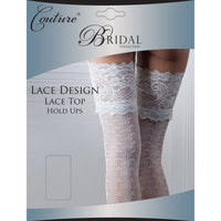 Ladies Women Couture Bridal Wedding Sexy Lace Design Lace Top Hold Up