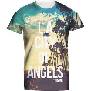 Ladies Tshirt L A City Of Angels T Design