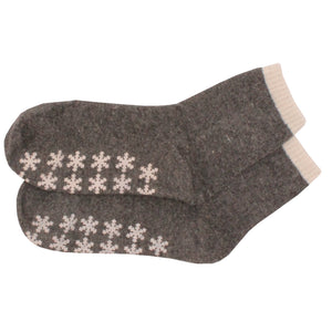 2 x Ladies Women Angora Blend Socks with Slip Resistant Grip Gripper Sole