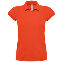 Ladies Women Heavymill 100% Cotton Short Sleeve Polo Neck Collar Shirt Top