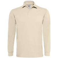 Mens B&C Heavymill 100% Cotton Long Sleeve Polo Neck Collar Shirt Top