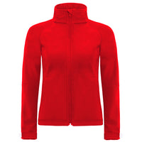 Ladies Women B&C Hooded Softshell Performance Jacket with Balaclava Hood