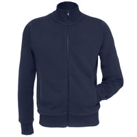 Mens Cotton Rich Spider Fashion Collar Sweatshirt with Full Zip
