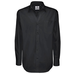 Mens Sharp Long Sleeve Formal Work 100% Cotton Shirt