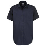 Mens B&C Formal 100% Cotton Sharp Short Sleeve Shirt