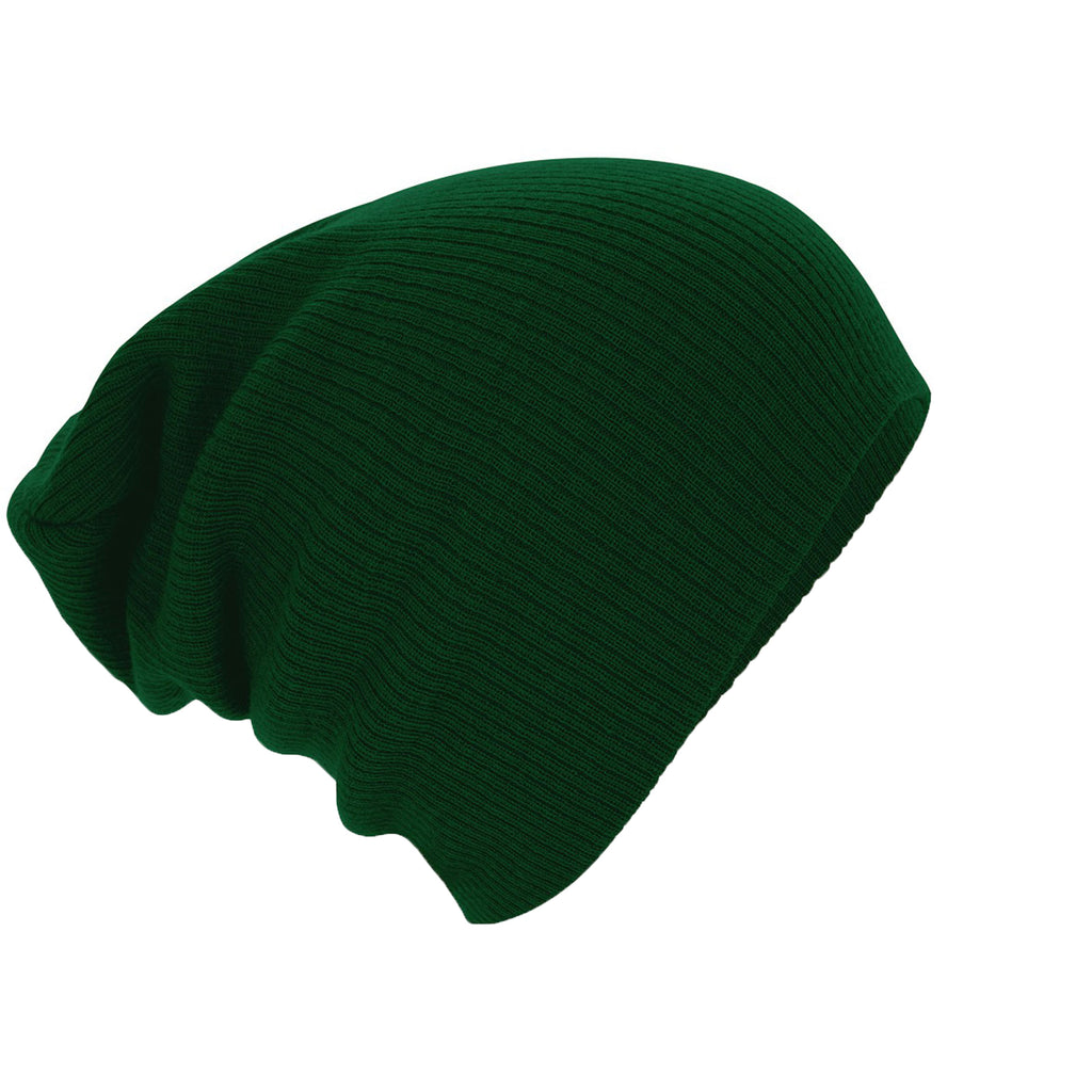 Adult Unisex Beechfield Double Lined Winter Warm Colour Slouch Beanie Hat