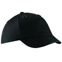 Mens Beechfield Cotton EN812 Coolmax Bump Cap Hat with Mesh Eyelets