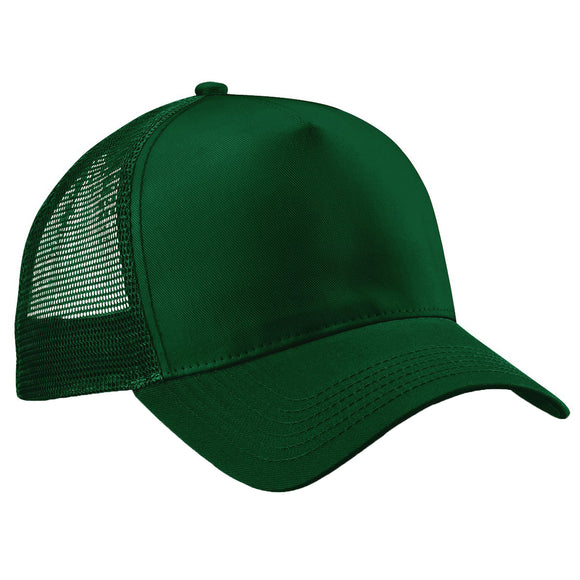 Adult Unisex Beechfield Retro Snap Back Trucker Back Mesh Baseball Cap Hat