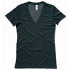 Ladies Women Bella Canvas Tri-Blend Deep V Neck Short Sleeve Colour T Shirt