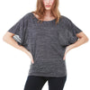 Ladies Women Bella Canvas Flowy Draped Sleeve Dolman Loose T Shirt Top