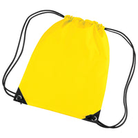 Bag Base Coloured Premium Gym Sport PE Sac Sack Draw String Bag