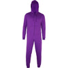 Unisex Adult Cotton Rich Plain Colour All in One Baggy Loose Suit Hood