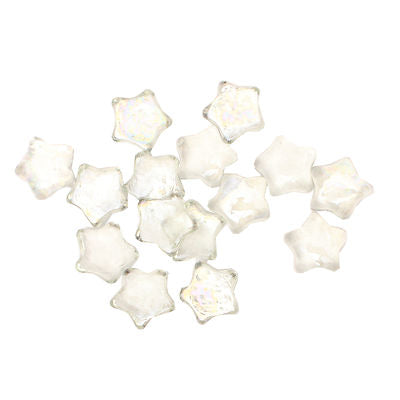 15 x Clear Star Shape Decorative Glass Pebble Stones Beads Vase Nuggets
