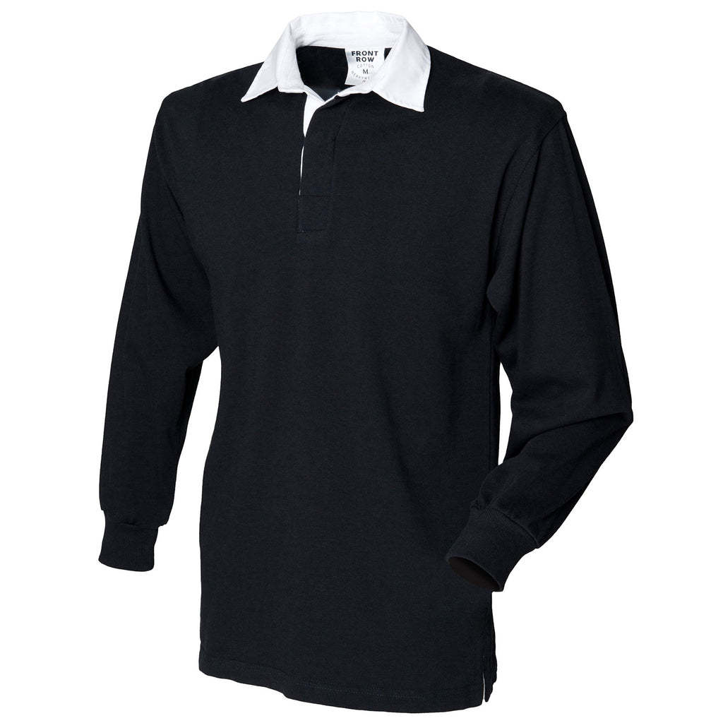 Kids Children Boy Girl Long Sleeve Plain Rugby 100% Cotton Collar Shirt