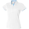 Ladies Women Front Row Contrast Pique 100% Cotton Polo Neck Collar Shirt Top