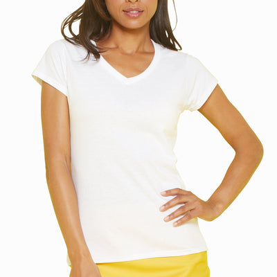 Ladies Women Gildan Softstyle Plain Cotton V Neck Short Sleeve T Shirt Top