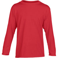 Kid Children Gildan Performance Long Sleeve Polyester Jersey Knit T Shirt Top