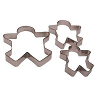 3 x Ginger Bread Man Metal Shape Cookie Cake Biscuit Baking Cutter