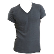 Mens Winter Warm V Neck Short Sleeve Thermal Underwear T Shirt Top