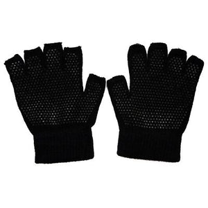 Adult Half Finger / Fingerless Magic Gripper Gloves
