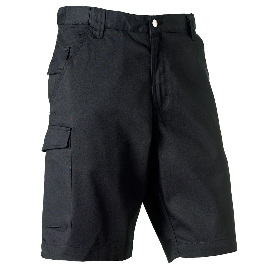 Mens Russell Polyester Cotton Twill Blend Workwear Shorts (Sizes 28 to 48)