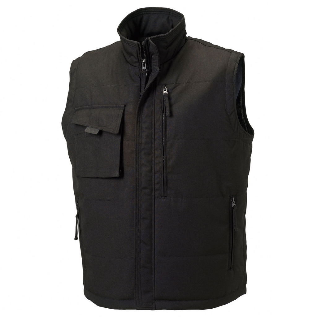 Mens Russelll Heavy Duty Sleeveless Full Zip Gilet Top (XS to 4XL)