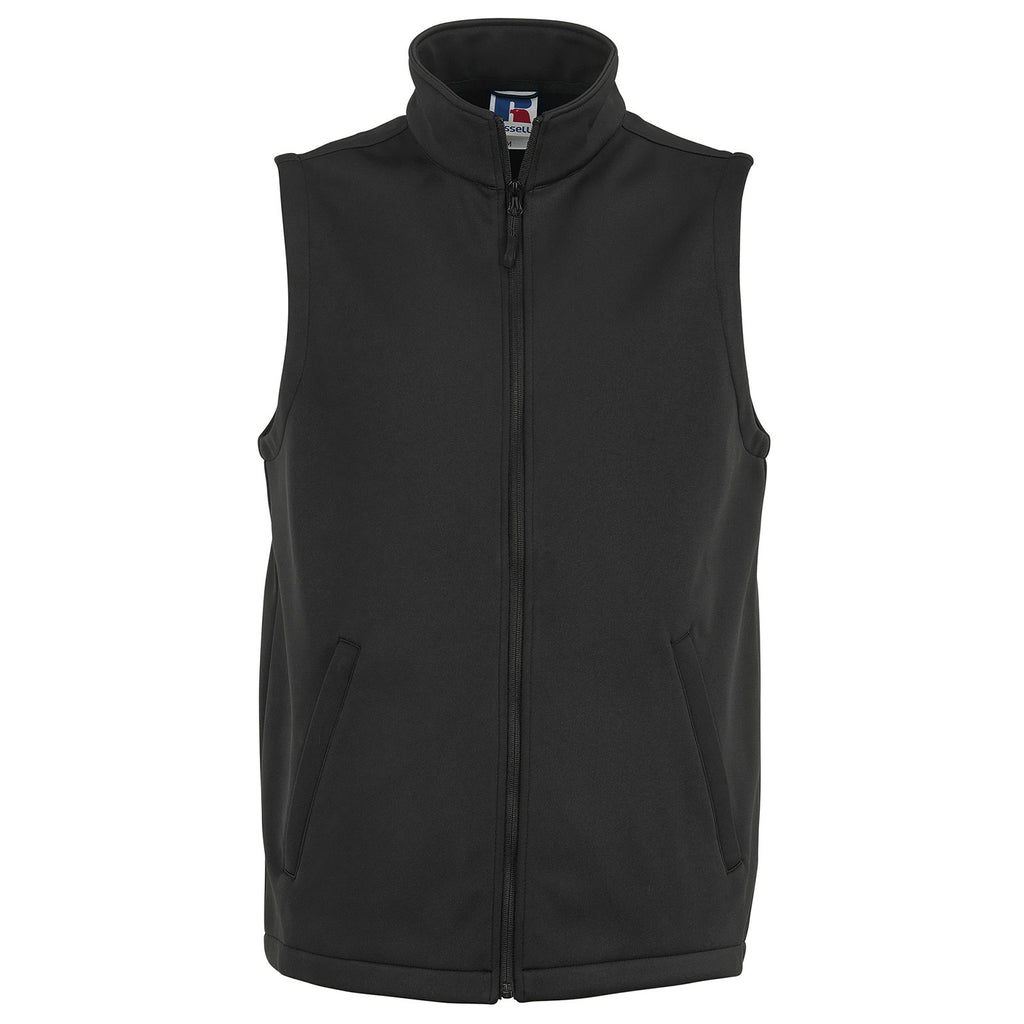 Mens Russell Smart Softshell Sleeveless Fleece Lined Gilet Top