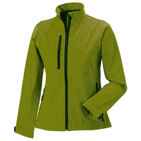 Ladies Women Russell Softshell Colour Full Zip Jacket Top (XS to 4XL)