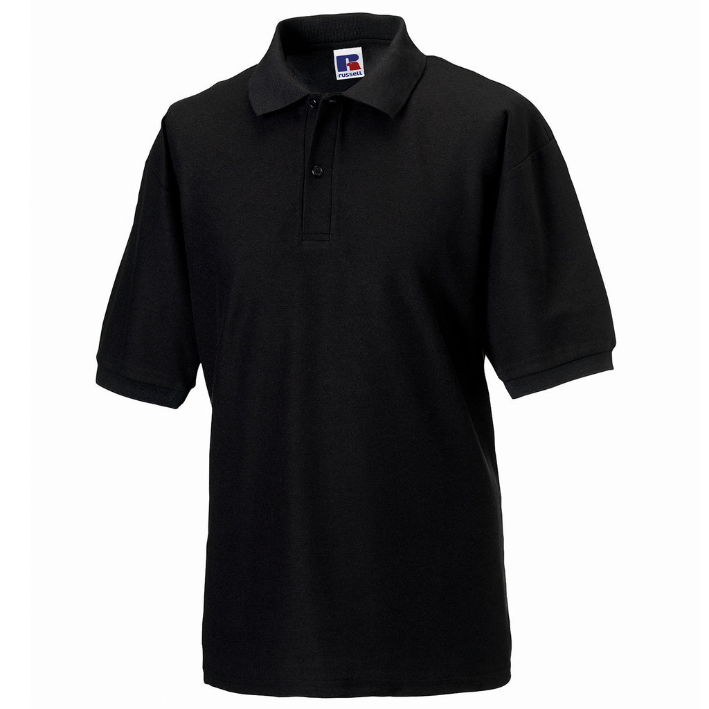 Mens Russell Classic Polyester Cotton Polo Neck Collar Shirt Top (XS to 6XL)