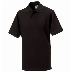 Mens Russell Classic 100% Cotton Colour Pique Polo Neck Collar Shirt Top