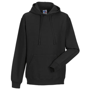 Mens Russell Hooded Hoodie Colour Cotton Blend Straight Cut Sweatshirt Top