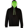 Mens Superbright Cotton Rich Hoodie Hooded Top with Hidden Earphone Loops