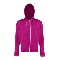 Ladies Women AWDis Light Weight Heather Zoodie Hoodie Hooded Zip Up Top