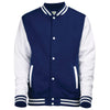 Unisex Kid Children Boy Girl AWDis American Varsity Style Cotton Rich Jacket