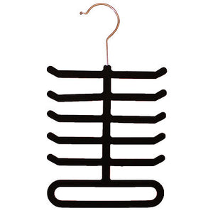 Flocked Soft Tie Belt Rack Organiser Hanger