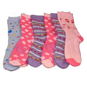 6 x Girls Kids Winter Extra Warm Hot Thick Thermal Socks