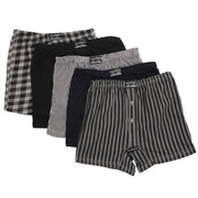 12 x Mens Big Sized Button Fly Jersey Boxer Shorts Natural Cotton Rich