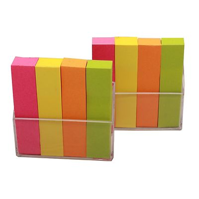 1600x Coloured Small Page Markers Folder Tab Organiser Memo Sticky Notes Bookmark
