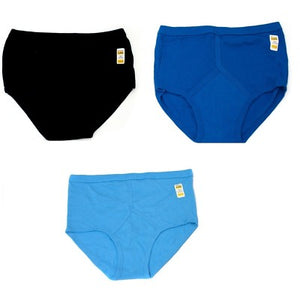 3 x Mens 100% Cotton Y Front Full Trad Briefs
