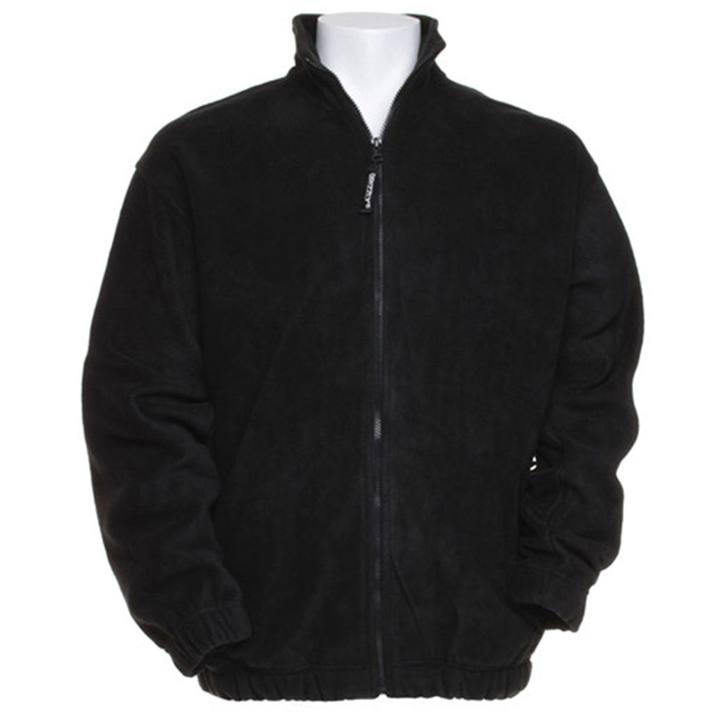 Mens Grizzly Full Zip Active Pill Resistant Fleece Jacket Top Elasticated Cuff
