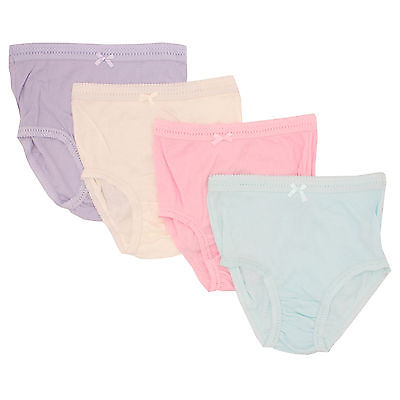 6 x Ladies 100% Cotton Ribbed Full Pastel Summer Colour Briefs Underwear Mama