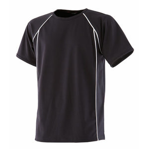 Mens Finden Hales Polyester Performance Raglan Short Sleeve T Shirt Top