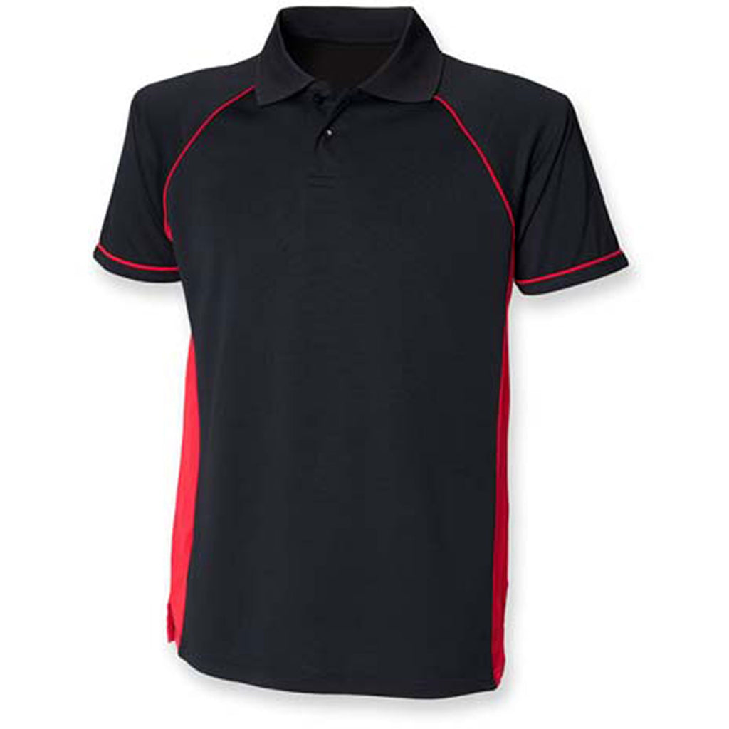 Mens Finden Hales Polyester Panel Performance Polo Neck Collar Shirt Top