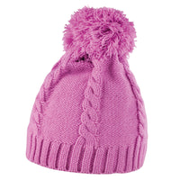 Ladies Women Result Winter Warm Colour Cable Knit Pom Pom Beanie Hat