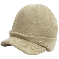 Mens Result Esco Army Heavy Knit Knitted Double Thickness Colour Warm Hat