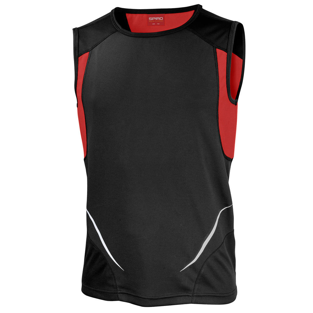 Mens Spiro Sport Athletic Lightweight Anti Static Training Sport Vest Top