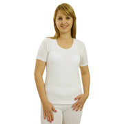 Ladies Women Thermal Warm Short Sleeve Tshirt Vest Underwear