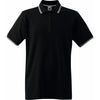 Mens Fruit of the Loom Tipped Polo Neck Collar 100% Cotton Shirt Top